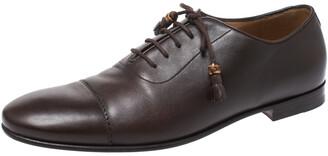 Gucci Dark Brown Leather Oxfords Size 42.5