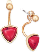 INC International Concepts Gold-Tone Red Stone Triangle Earring Jackets, Only at Macy's