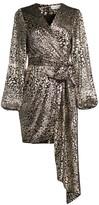 Rebecca Vallance Vienna Metallic Leopard Print Mini Dress