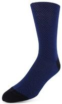 Bruno Magli Cotton Blend Herringbone Dress Socks