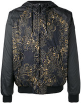 Versace print hooded jacket