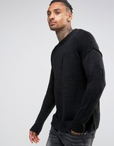 Criminal Damage Sweater With Distressing