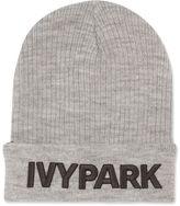 Ivy Park Ribbed Logo Beanie Hat