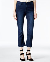 Rachel Roy Cropped Ultramarine Wash Flared Jeans, Only at Macy's