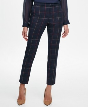 Tommy Hilfiger Windowpane-Print Pants