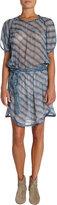 Etoile Isabel Marant Zaggy Stripey Chiffon Dress