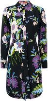 Diane von Furstenberg floral print shirt dress - women - Silk - 6
