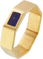 Pippa Small Gold Plated Silver Ring with Lapis