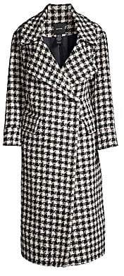 Smythe Women's Houndstooth Wool, Alpaca & Mohair-Blend Blanket Coat