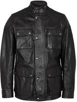 Belstaff Trailmaster Black Waxed Leather Jacket