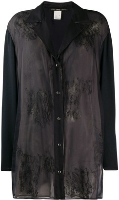 Gianfranco Ferré Pre-Owned 1990s Stained Effect Sheer Shirt