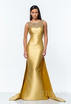 Terani Evening - Astonishing Trumpet Gown with Cape Details 151E0297A