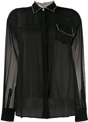 Barba sheer silk shirt