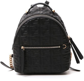 Fendi FF Logo Embossed Mini Backpack