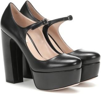 Black Mary Jane Platform Pumps ShopStyle