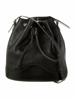 Burberry Vintage Leather Bucket Bag Black