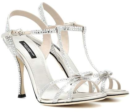 Dolce & Gabbana Crystal-embellished sandals