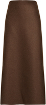 The Row Ernst high-rise double-faced wool skirt