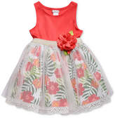 Sweet Heart Rose Floral-Print Sundress, Baby Girls