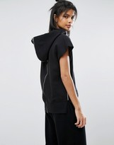 Nocozo Zip Around Sleeveless Sweat Hoodie