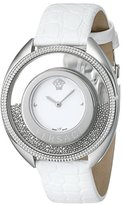 Versace Women's 86Q99D002 S001 Destiny Spirit Stainless Steel Micro-Spheres Watch with White Leather Band