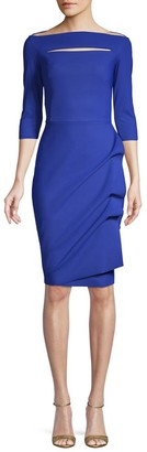 Chiara Boni Kate Ruffled Three-Quarter Sleeve Bodycon Dress