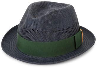 Paul Smith Multi-Tab Straw Trilby Hat