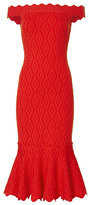 Jonathan Simkhai Diamond Knit Trumpet Dress