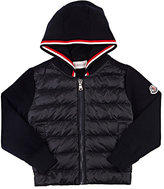 Moncler Maglia Down-Quilted Hooded Cardigan