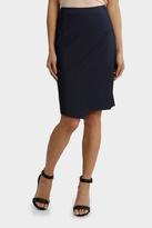 Indigo Asymetrical Suit Skirt