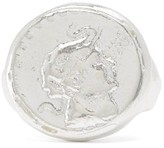 Dear Letterman - Ahdeem Sterling Silver Signet Ring - Mens - Silver