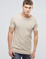 Asos Longline Muscle T-Shirt In Stone