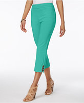 JM Collection Petite Lattice-Hem Capri Pants, Only at Macy's