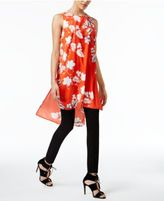 Vince Camuto Floral-Print High-Low Tunic