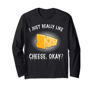 IDEA Funny Cheese Lover Cheese Nerd Gift Design Long Sleeve T-Shirt