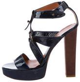 Lanvin Patent Leather Round-Toe Sandals