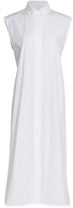 LOULOU STUDIO Sleeveless Cotton Poplin Shirtdress