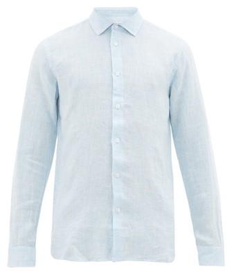 Orlebar Brown Giles Linen Shirt - Light Blue