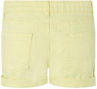 Monsoon Girls Layla Denim Shorts - Yellow