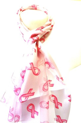 Lapeach Fashions Beautiful Brand New Long Breast Cancer Awareness Satin Stripe Scarf Stole Wrap Neck Scarf (Pink)