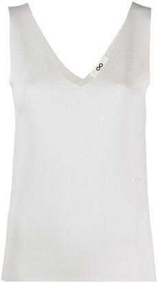 Sminfinity V-neck sleeveless knitted top