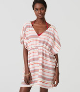 LOFT Beach Striped Caftan Dress