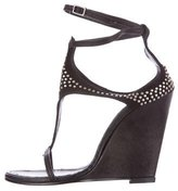 Thomas Wylde Suede Studded Sandals