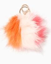 Charming charlie Colorblock Pom Keychain