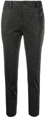 Liu Jo Glitter-Embellished Slim Trousers
