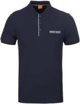 Boss Orange Powers Dark Navy Short Sleeve Polo Shirt