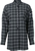 Helmut Lang oversized checked shirt