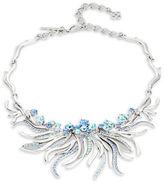 Oscar de la Renta Crystal Sea Swirl Necklace
