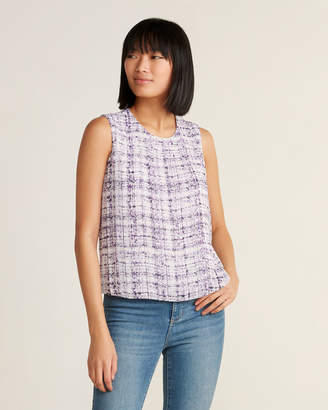 Calvin Klein Abstract Pleated Tank Top