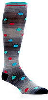 Daniel Cremieux Space Dye Dots Over-the-Calf Dress Socks